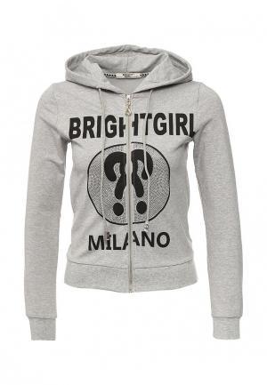 Толстовка Bright Girl. Цвет: серый