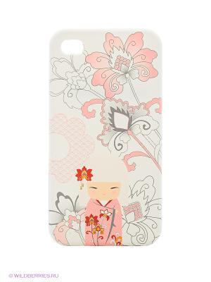 Чехол для iPhone 4/4s Kimmidoll. Цвет: белый, розовый