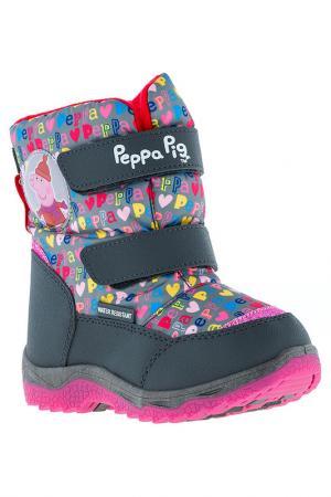 Сапожки Peppa Pig. Цвет: серый
