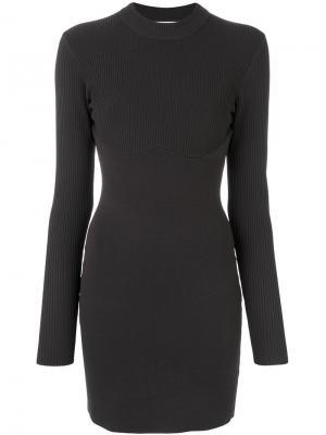 Приталенное платье-мини Dion Lee. Цвет: серый