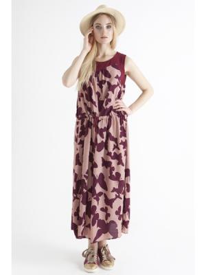 Платье-сарафан Tree Story с цветами красно-розовый MONOROOM