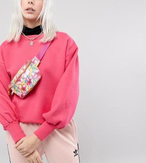 Mi-Pac Эксклюзивная сумка-кошелек на пояс с цветочным принтом. Цвет: мульти