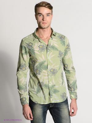 Рубашка HAMAKI-HO. Цвет: зеленый, темно-зеленый