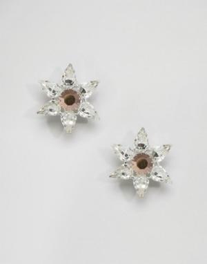 Krystal Серьги-звездочки с кристаллами Swarovski от. Цвет: серебряный