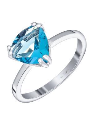 Кольцо Teosa. Цвет: голубой