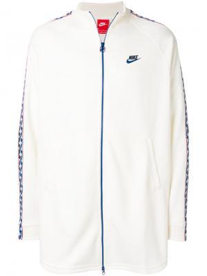 Mid-length banded track jacket Nike. Цвет: белый