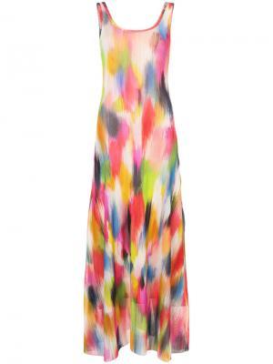 Платье-топ макси с принтом Fuzzi. Цвет: многоцветный