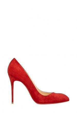 Замшевые туфли Cornellie 100 Christian Louboutin. Цвет: красный