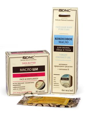Масла косметические: Ши и Кокосовое (80 мл, 60 мл) Маска для проблемной кожи лица (15 DNC. Цвет: молочный, прозрачный, светло-желтый