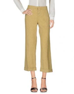 Повседневные брюки ZHELDA. Цвет: охра