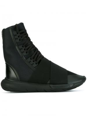 Хайтопы Qasa Boot Y-3. Цвет: чёрный