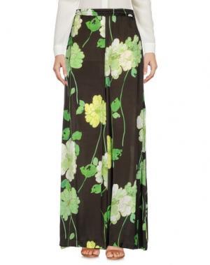Повседневные брюки NOLITA. Цвет: темно-коричневый