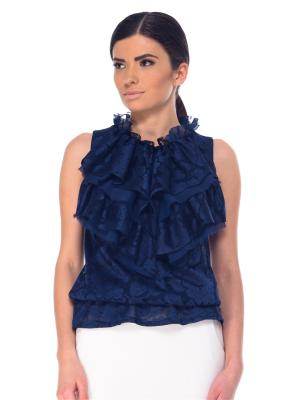 Блузка Arefeva. Цвет: синий