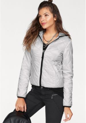 Стеганая куртка AJC. Цвет: светло-серый/серебристый, темно-синий/серебристый