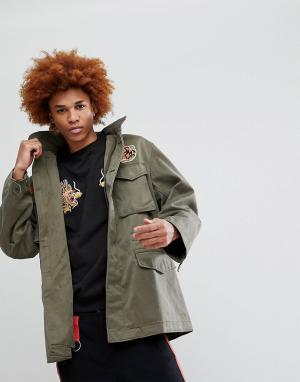 Maharishi Куртка с нашивками M65. Цвет: зеленый