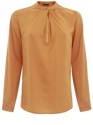Блузка Oodji. Цвет: светло-коричневый