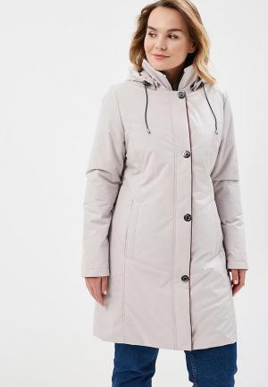 Куртка утепленная Maritta. Цвет: бежевый