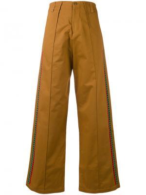 Широкие брюки Jour/Né. Цвет: коричневый