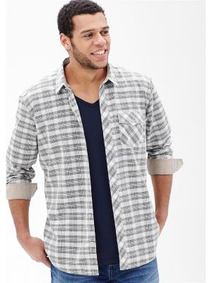 Рубашка S.OLIVER. Цвет: серо-коричневый