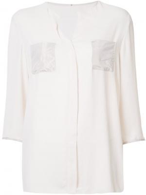 Рубашка шифт без воротника Peter Cohen. Цвет: телесный