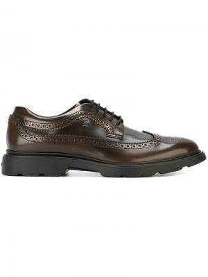 Туфли броги Hogan. Цвет: коричневый