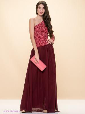 Платье ELENA FEDEL. Цвет: коралловый, бордовый