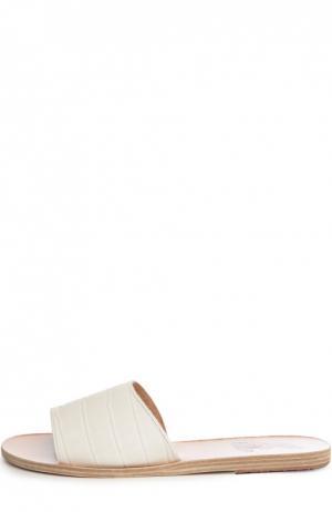 Кожаные шлепанцы Taygete Ancient Greek Sandals. Цвет: белый