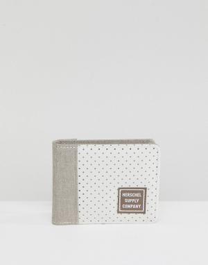 Herschel Supply Co Бумажник с RFID-меткой Edward. Цвет: бежевый