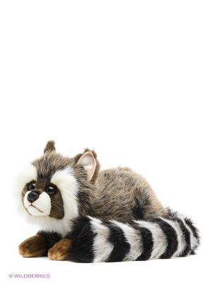 Енот лежащий Hansa. Цвет: коричневый, светло-коричневый