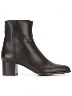 Ботинки на молнии Veronique Branquinho. Цвет: коричневый