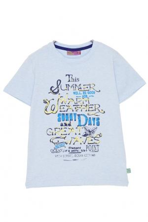 Голубая футболка с принтом Sweet Berry. Цвет: голубой