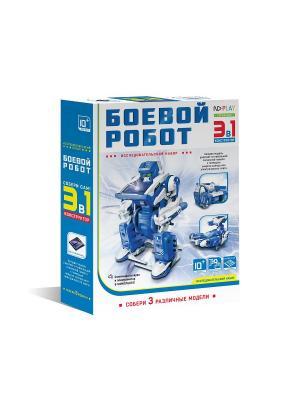 Конструктор Боевой робот 3 в 1 НД плэй. Цвет: синий, белый