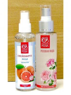 Набор Вода розовая натуральная +Вода ароматная Грейпфрут Крымская Роза. Цвет: белый