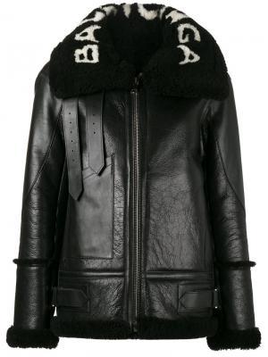 Куртка Le Bombardier Balenciaga. Цвет: чёрный