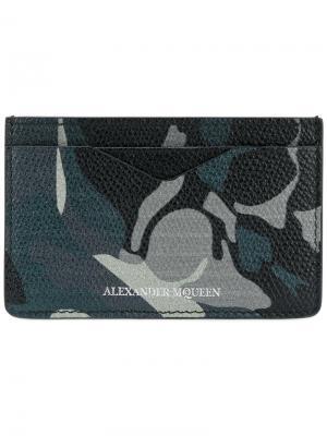 Кредитница с камуфляжным принтом Alexander McQueen. Цвет: многоцветный
