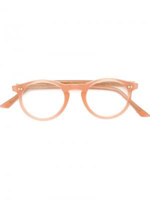 Оптические очки в круглой оправе Cutler & Gross. Цвет: розовый и фиолетовый