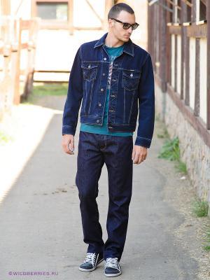 Джинсовая куртка Wrangler. Цвет: темно-синий