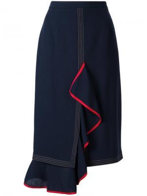 Драпированная юбка Marco De Vincenzo. Цвет: синий