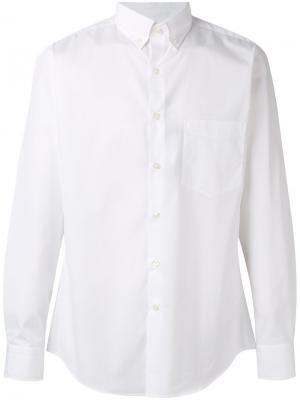 Рубашка с воротником на пуговицах Paul & Shark. Цвет: белый