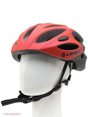 Шлем велосипедный Larsen. Цвет: красный, белый, черный