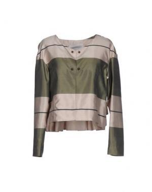 Пиджак ALBINO. Цвет: зеленый-милитари