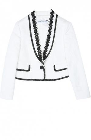 Жакет Dolce & Gabbana. Цвет: белый