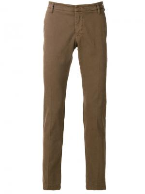 Slim-fit trousers Entre Amis. Цвет: коричневый