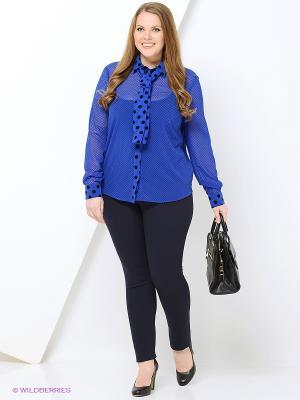 Блуза Caractere. Цвет: синий