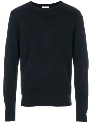 Пуловер с круглым вырезом  Masker S.N.S. Herning. Цвет: синий
