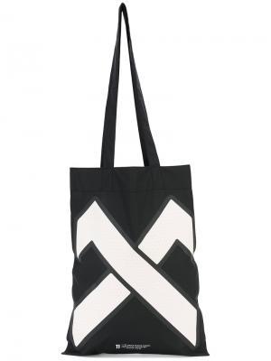 Непромокаемая сумка-тоут 11 By Boris Bidjan Saberi. Цвет: чёрный