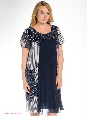 Платье Gemko plus size. Цвет: синий