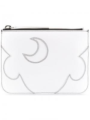 Клатч среднего размера McQ Alexander McQueen. Цвет: белый