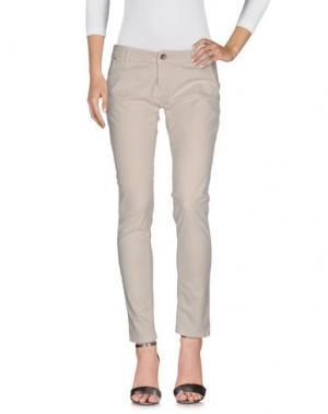 Джинсовые брюки KAYLA. Цвет: бежевый