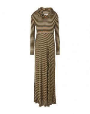 Длинное платье NIŪ. Цвет: темно-зеленый